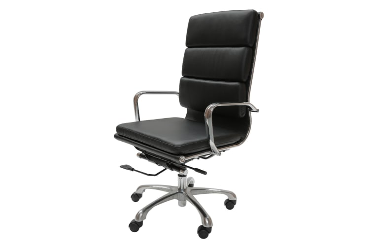 Eames Inspired High Back Soft Pad Executive Desk / Office Chair | Black