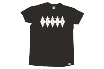 Out Of Bounds Golf Tee - Argyle Golf Jumper - (Small Black Mens T Shirt)