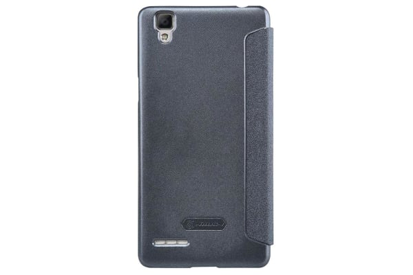 release date: ce686 fe2c2 Nillkin Frosted Shield Sparkle Leather Flip Cover for OPPO F1s/A59 - Grey