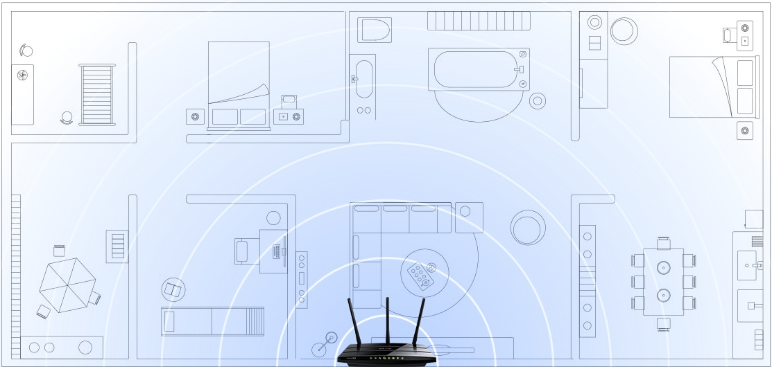 Archer C1200 Wi-Fi Coverage