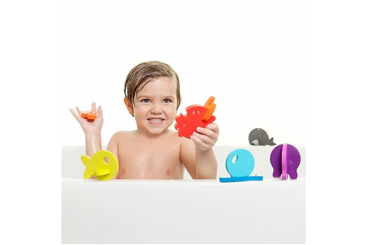 Boon 11pc Links 3D Foam Sea Animal Puzzles Bath Time/Tub Toys/Game for Baby/Kids