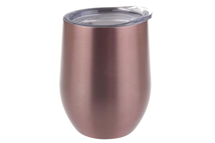 Oasis 300ml Stainless Steel Double Wall Insulated Wine Drink Tumbler Rose Gold