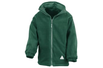 Result Childrens/Kids Reversible Storm Stuff Anti Pilling Fleece Waterproof Jacket (Bottle Green/Bottle Green)