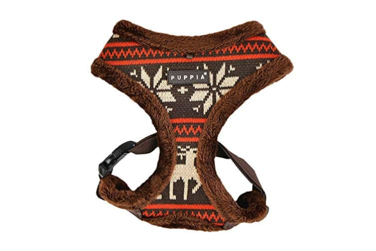 Puppia Prancer Dog Harness A (Brown) (M)