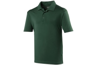 Just Cool Mens Plain Sports Polo Shirt (Bottle Green)