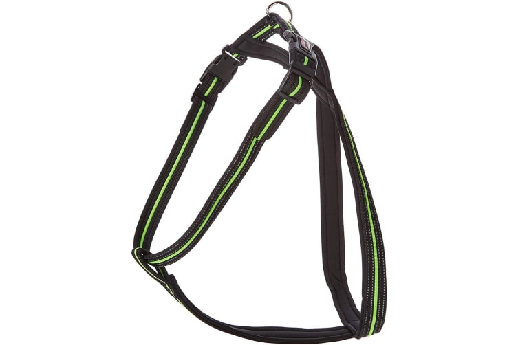 Trixie Fusion Touring Dog Harness (Black/Green) (S)