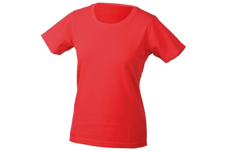 James and Nicholson Womens/Ladies Function Tee (Red) (M)