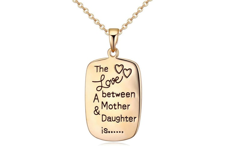 Love Between Mother & Daughter Is Necklace-Gold