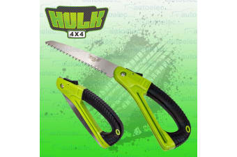 HULK FOLDING WOOD CUTTING HAND SAW FIRE TREE BRANCH CAMPING RECOVERY 4WD 4X4 NEW