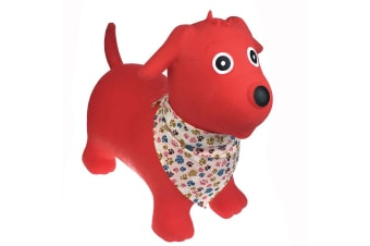 Bouncy Rider Red Dog with Scarf Ride On Toy