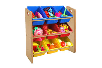 Lenoxx Kids Shelf Storage with 9 Bins