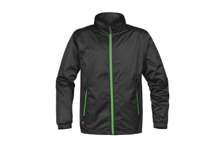 Stormtech Mens Axis Lightweight Shell Jacket (Waterproof And Breathable) (Black/Lime Green) (S)