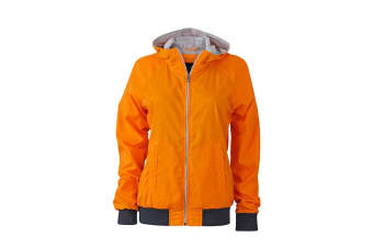 James and Nicholson Womens/Ladies Sports Jacket (Orange/Navy) (XL)