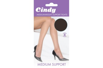 Cindy Womens/Ladies Mediumweight Support Tights (1 Pair) (Barely Black)