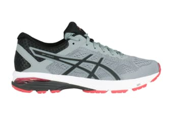 ASICS Men's GT-1000 6 Running Shoe (Stone Grey/Black/Red)