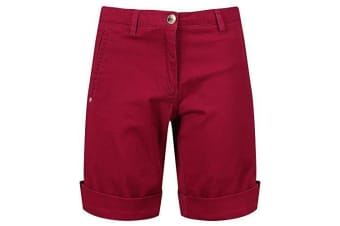 Regatta Womens/Ladies Solita Multi Pocket Active Shorts (Beaujolais) (10 UK)