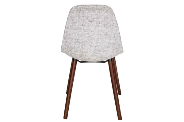 Replica Eames DSW Hal Inspired Chair | Textured Light Grey Fabric Seat | Walnut Legs