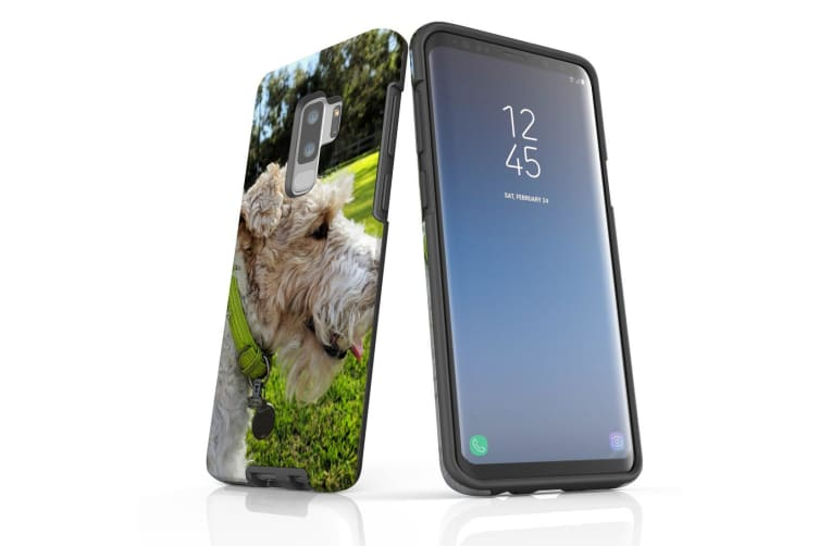 For Samsung Galaxy S9+ Plus Case Armour Cover  Smiling Wire Haired Fox Terrier
