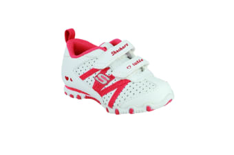 Skechers SK82688  (CONT) / Girls Trainers (White /Red)