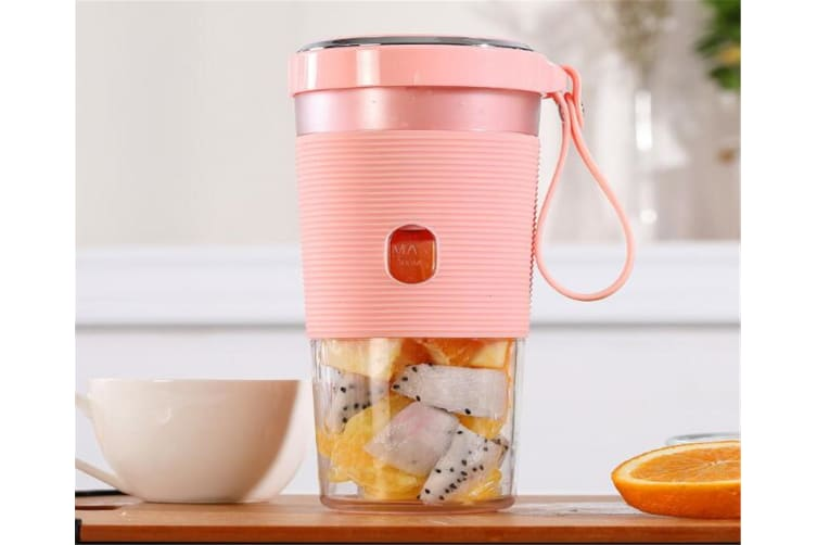 Select Mall 50W 300ml Fruit Juicer Bottle Portable DIY Magnetic Charging Electric Juicing Extracter Cup Machine-PINK