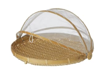 Davis & Waddell Collapsible Mesh Food Cover with Bamboo Tray 42cm