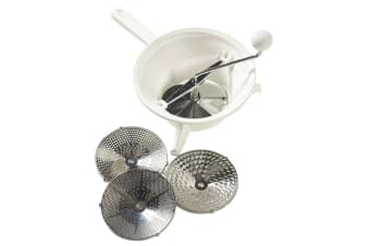 Savannah 24cm Manual Rotary Food Mill Strainer Masher Fruit Vegetable Tool WHT