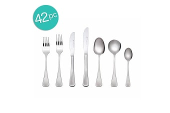 42pc Maxwell & William Cosmopolitan Cutlery Set Stainless Steel Knife Fork Spoon
