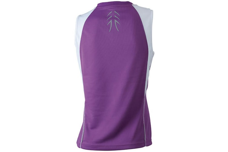 James and Nicholson Womens/Ladies Running Tank Top (Purple/White) (XXL)