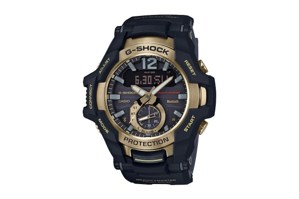 Casio G-Shock Analog Gravitymaster Solar Watch with Resin Band -Black/Gold (GRB100GB-1A)