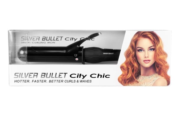 Silver Bullet City Chic Black Curling Iron - 38mm (900664)