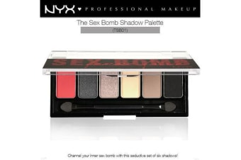 Nyx The Sex Bomb Femme Fatale Eye Shadow Palette #Tsb01 Vibrant Smokey Seductive