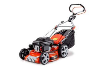 NEW Baumr-AG 21' Lawn Mower Self Propelled Lawnmower 4 Stroke Petrol Mulch 218cc