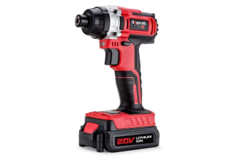 NEW Baumr-AG 20V Lithium Cordless Impact Driver Electric Screwdriver Hex Tool