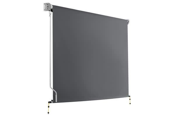 1.8m x 2.5m Retractable Roll Down Awning (Grey)