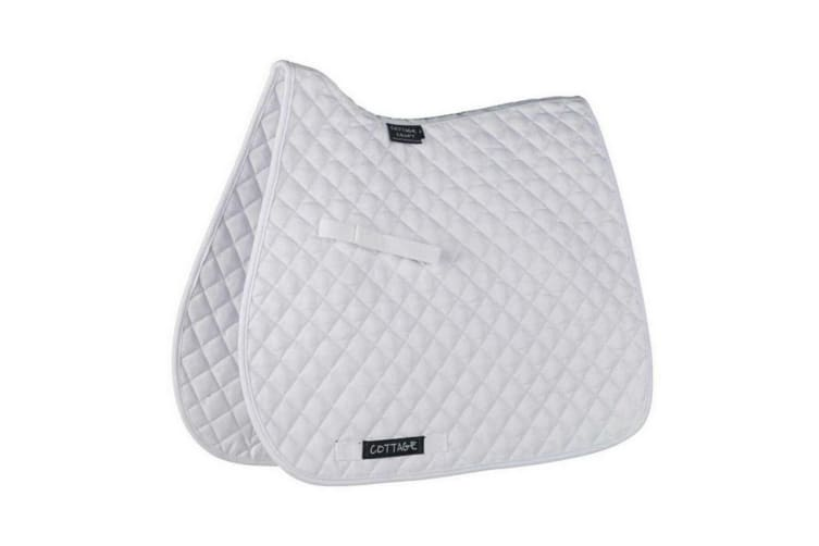 Cottage Craft Classic High Wither GP Saddlecloth (White) (Pony)