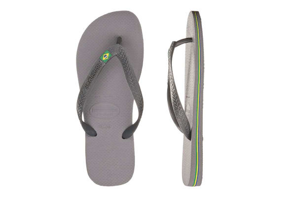 Havaianas Brasil Thongs (Steel Grey, Brazil 39/40)