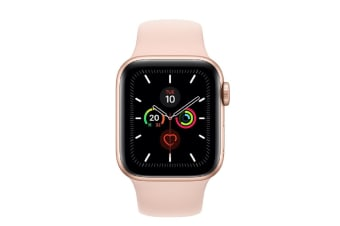Apple Watch Series 5 (GPS) 40mm Gold Aluminum Case Pink Sport Band MWV72