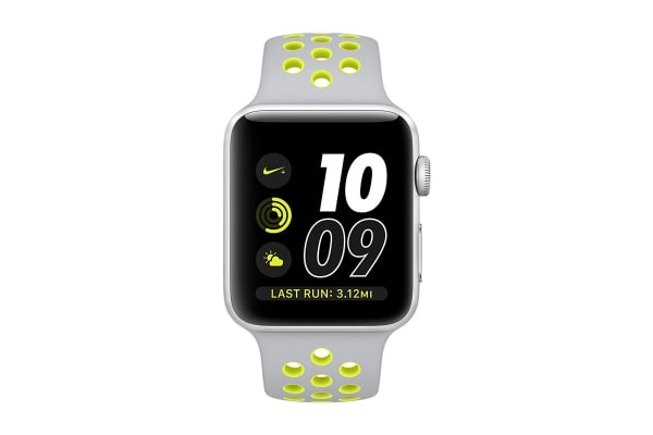 Apple Watch Series 2 (Silver, Aluminium, 42mm, Nike Silver/Volt)