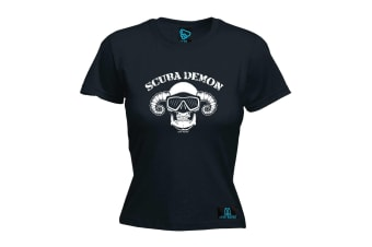 Open Water Scuba Diving Tee - Demon - Black Womens T Shirt