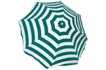 Palm Beach Umbrella Green & White 2.0m