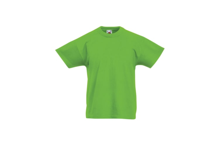 Fruit Of The Loom Childrens/Kids Original Short Sleeve T-Shirt (Lime) (3-4 Years)