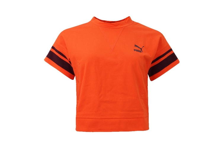 Puma Women's Fenty Tipping Tee (Flame, Size L)