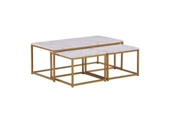 Pierre 3pc Nesting Coffee Table and Side Table Set