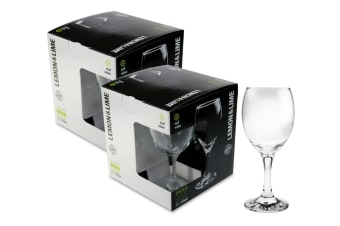 Lemon & Lime Set of 8 Red Wine Clear Glass 340ml