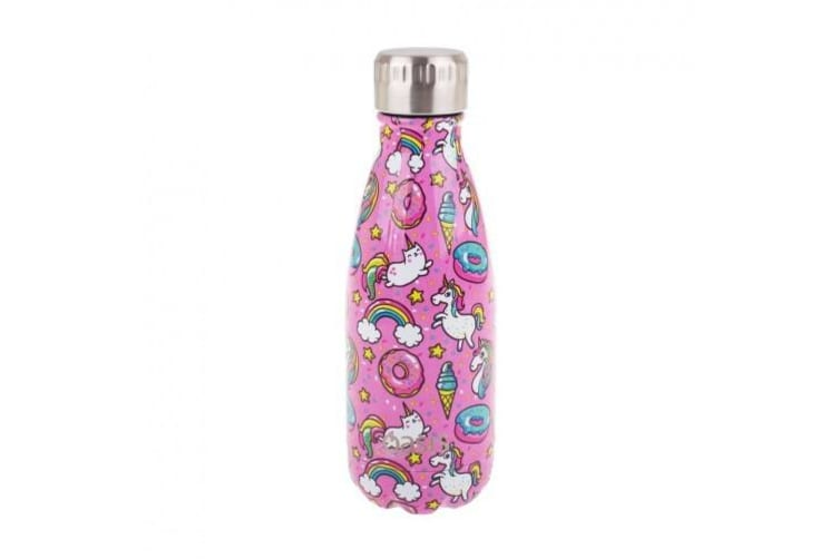 Oasis 350ml Stainless Steel Double Wall Insulated Drink Bottle Unicorns
