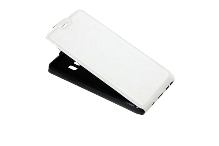 For Samsung Galaxy Note FE Case Elegant Vertical Flip Protective Cover White