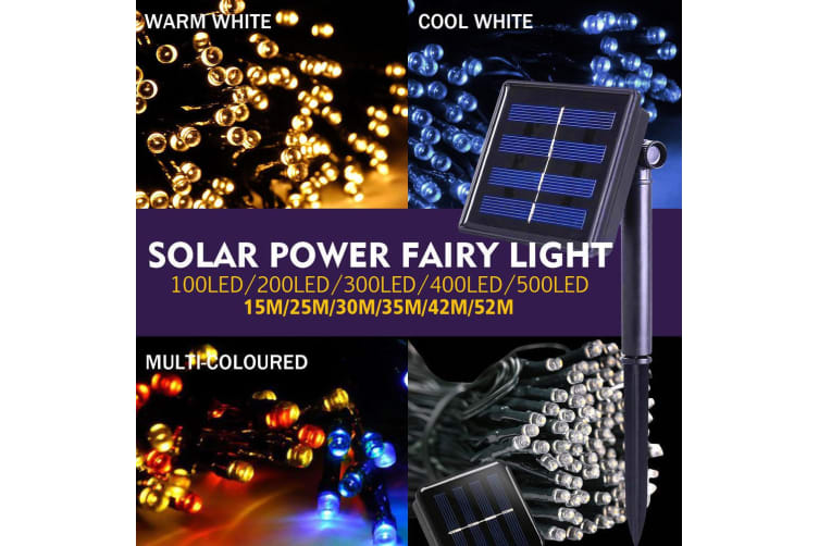 30M 300LED String Solar Powered Fairy Lights Garden Christmas D?cor Cool White Cool White