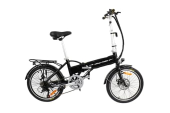 Folding Electric Bike 36V 9Ah 250W Motor Pedal Assist Shimano Gears Pas Bicycle Black