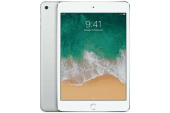 Used as demo Apple iPad Mini 4 128GB 4G LTE Tablet Silver (100% GENUINE + 6 MONTHS AU WARRANTY)