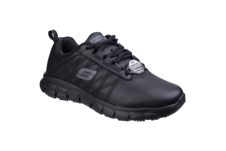 Skechers Womens/Ladies SK76576EC Sure Track Erath SR Ladies Lace Up Shoes (Black) (4 UK)